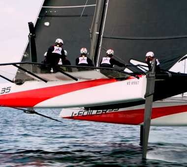 Pelle P announced as clothing partner to the new TF35; Alinghi's first sail